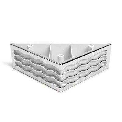 Dizayn Plastik Ayak Bravo 4.5Cm Su Yolu Beyaz Nikel