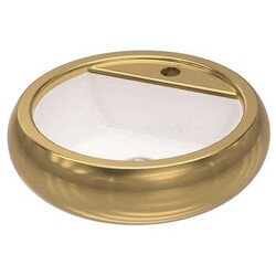 İdevit - İdevit Tezgah Üstü Lavabo Ufo Daire 47.5CM Altın