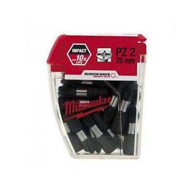 Milwaukee Bits Uç Pz2 25Mm 25 Lı Paket Shockwave
