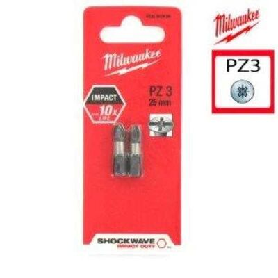 Milwaukee Bits Uç Pz3 25Mm 2 Lı Paket Shockwave