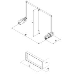 Starax 6021 Gardrop Asansoru Destek Parçası 10 Kg Antrasit - Thumbnail