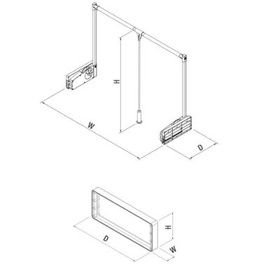 Starax 6021 Gardrop Asansoru Destek Parçası 10 Kg Antrasit