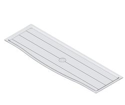 Starax - Starax 5215 Tepsi Plastik Şeffaf Kapak Ölçüsü 90 Cm
